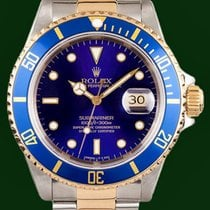 Ρολεξ (Rolex) Submariner 16613 Date 18K Gold Steel Blue Dial