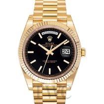 Rolex Day-Date Black 18k Gold 40mm - 228238