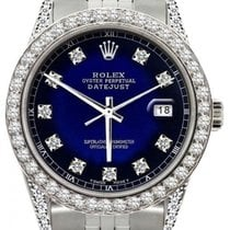 Rolex Datejust Men's 36mm Deep Blue And Navy Dial Stainles...