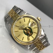 Rolex - Date Just 16013 Yellow Dial Steel and Gold