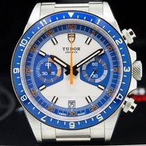 Tudor 70330B 70330B Heritage Chronograph Silver Dial w/Blue...