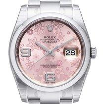 Rolex Oyster Datejust 36 mm 116200 Zifferblatt Floral-Pink