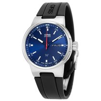 Oris Williams F1 Day Date Blue Dial Black Rubber Men's Watch