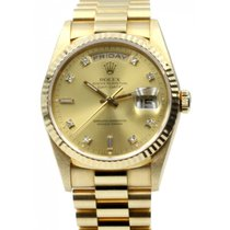 Ρολεξ (Rolex) Day-Date President 18238 Champagne 36mm Factory...