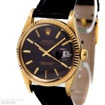 ロレックス (Rolex) Vintage Date Ref-15037 14k Yellow Gold Black...