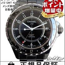 Chanel 【シャネル】J12 GMT 42mm メンズ腕時計自動巻き AT オートマブラック セラミックブラック文字盤...