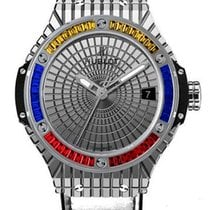 Hublot Big Bang Steel Caviar Yellow Red Blue Sapphires Men`s...