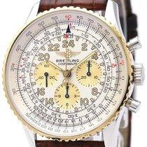 ブライトリング (Breitling) Navitimer Cosmonaute 18k Gold Steel Watch...
