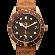 Tudor Heritage Black Bay Bronze Brown Bronze/Leather 43mm -...