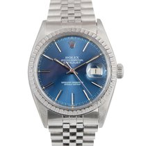 Rolex Datejust Steel with Blue Dial, Ref: 16030 Full Set