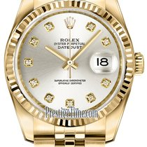 ロレックス (Rolex) Datejust 36mm Yellow Gold 116238 Silver Diamond...