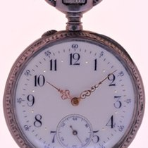 Swiss Mans Pocket Watch, open face Silver - Case, all over...