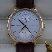 A. Lange & Söhne 385.032   Saxonia Dual Time Rose Gold ...