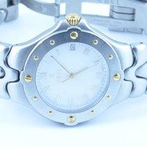 Ebel Sportwave Herren Uhr Neue Version Stahl/gold Weiss 37mm...