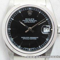 Rolex Oyster DateJust 68240 31mm medio quadrante nero