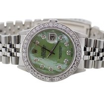 Rolex Datejust Men's 36mm Green Dial Stainless Steel Bracelet