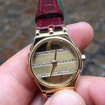 Yves Saint Laurent Solo Tempo gold oro 24 mm lady diamanti...