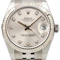 Rolex Datejust 178274 Ladies 31mm Silver Diamond White Gold...