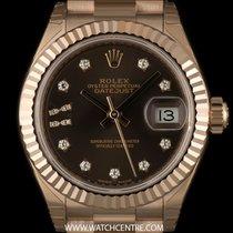 ロレックス (Rolex) 18k R/G Unworn O/P Dia Star Dial Datejust Ladies...