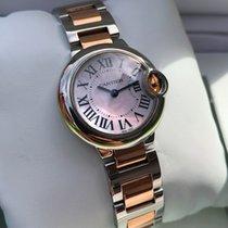 Cartier Ballon Bleu Rose Gold Steel Pearl Roman Dial 30mm...