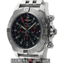 Breitling Chronomat Chronograph GMT Black Dial Stainless Steel...