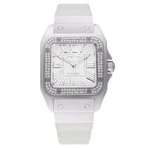 Cartier Santos 100 Medium White Gold&Diamonds