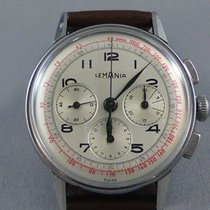 Lemania Aviator's stainless steel 3-Register Chronograph 1953