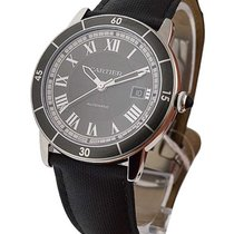 Cartier WSRN0003 Ronde Croisiere Automatic in Steel - on Black...