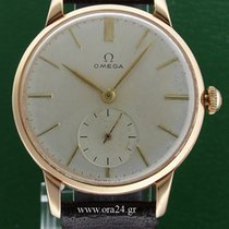 Omega Vintage Jumbo 2687 Cal 266 Engine Turned Dial 18k Rose Gold