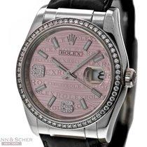 Rolex Datejust Ref-116189 18K White Gold Diamond Bezel &...