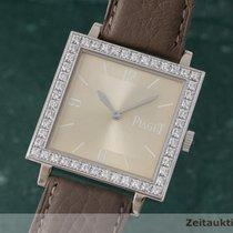 Piaget Lady 18k Weissgold Square Diamanten Damenuhr G0a30100