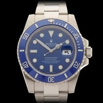 Rolex Submariner Smurf 18k White Gold Gents 116619LB - W3798