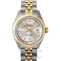 Rolex Lady-Datejust 28 Silver 18k Yellow Gold/Steel 28mm...