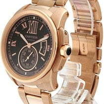 Cartier Calibre 18kt Rosegold Brown Dial Automatic Men Watch...