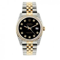 Rolex Datejust Men's 36mm Black Dial Stainless Steel Bracelet