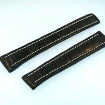 Breitling Band 16mm Croco Black Negra Strap B16-35