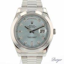 Rolex Day-Date II Platinum Ice Blue Diamonds