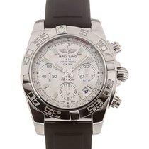 Breitling Chronomat 41 Chronograph Silver Dial