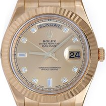 Rolex Diamond Day-Date II 41mm 18k Yellow Gold Men's...