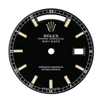 Rolex Day-Date 36mm Black/ Indexes Original Factory Dial