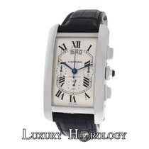 Cartier NOS Men  Tank Americane XL W2609456 2894 Chrono 18K Gold