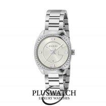 Gucci Quartz GG2570 Small White Dial With Diamonds 29mm R