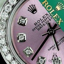 Rolex Womens Rolex 26mm Datejust Stainless Steel Metallic Pink...