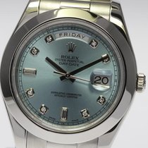 롤렉스 (Rolex) DAY-DATE II 41mm Platinum PT950 President Ice Blue...
