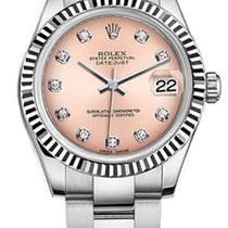 Rolex New Style Datejust Midsize Stainless Steel Custom Fluted...