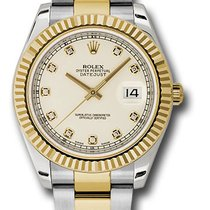 Rolex 116333  Datejust 41mm Steel and 18K Yellow Gold Mens Watch