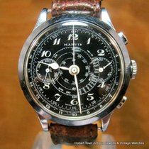 Marvin Genuinely RARE Oversize Military Style Chronograph ALL...