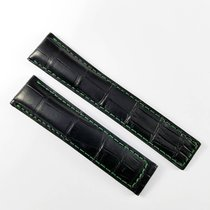 TAG Heuer 20mm alligator leather strap  black green FC6308...