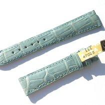 Chopard Croco Band Strap Blue 16 Mm 70/105 New C16-010 -70%