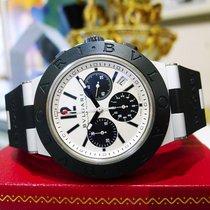 Bulgari Diagono Aluminum Chronograph Ac44ta Automatic Rubber...